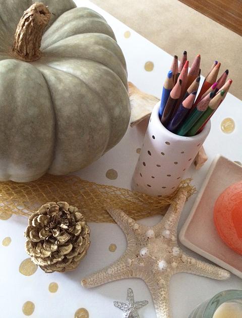 Thankgiving table pencils