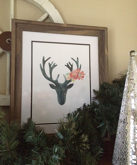 stag prints_hanging