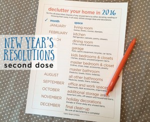 new year's resolutions | second dose