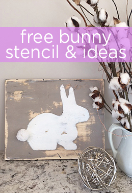 free bunny stencil & ideas on how to use it