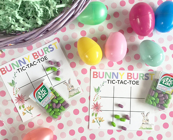 easter tic tac toe free game card
