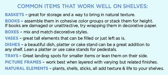 common shelf items