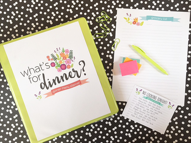 dinner binder closed with prints notxt