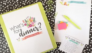 dinner meal planner & FREE templates