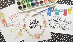 NEW spring art prints