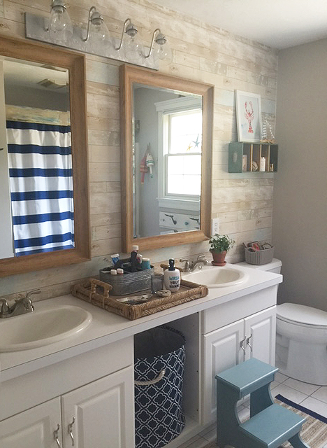 nautical bathroom reveal