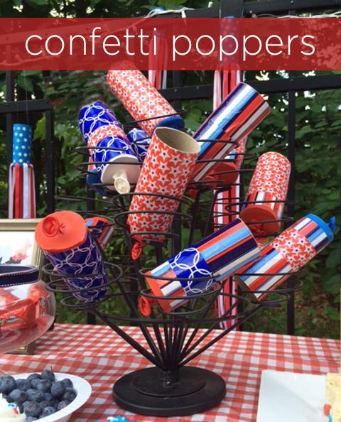July 4th DIY confetti poppers