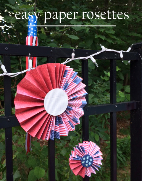 July 4th paper rosettes