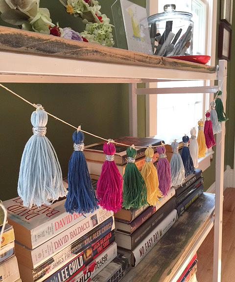 bookshelf tassels