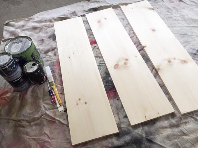 bookshelf wood before
