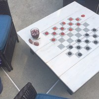 DIY firepit cover & game table