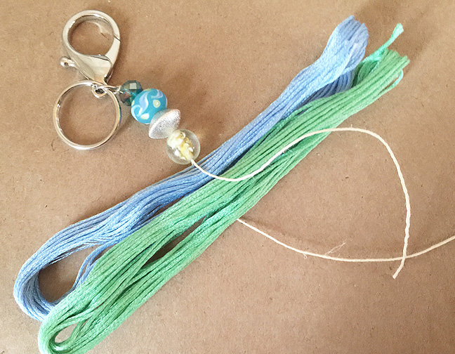 greco design tassels_attach thread