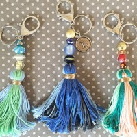 DIY tassel keychains