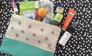 emergency beauty kit & DIY stamped pouch