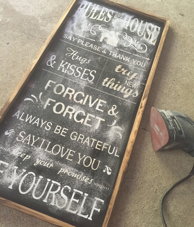 greco design_wood sign sanded