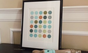 Easy Wall Art Ideas | Chapter Six: Paint Chip Circle Art