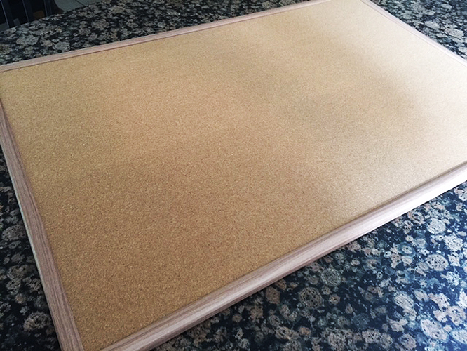 painted cork board_before