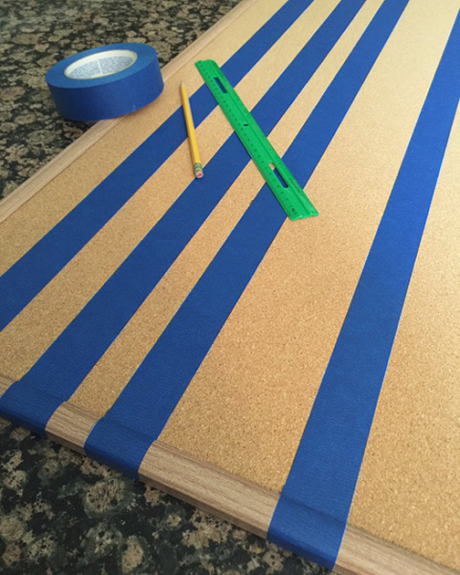 painted cork board_tape