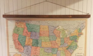 Easy Wall Art Ideas | Chapter Seven: Vintage-style Map