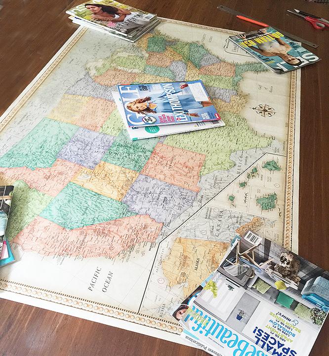 vintage map_flatten