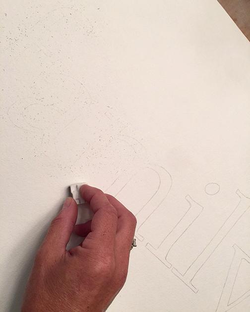 watercolor type_erase