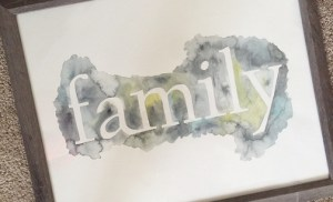 Easy Wall Art Ideas | Chapter Four: Watercolor Type