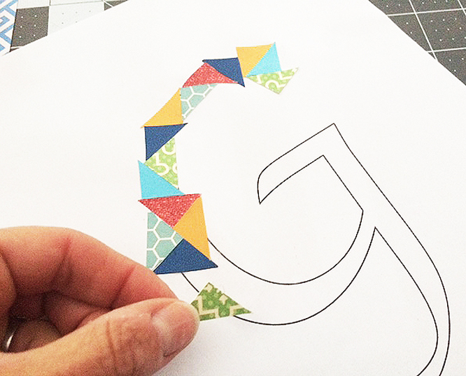 cut paper g glueing