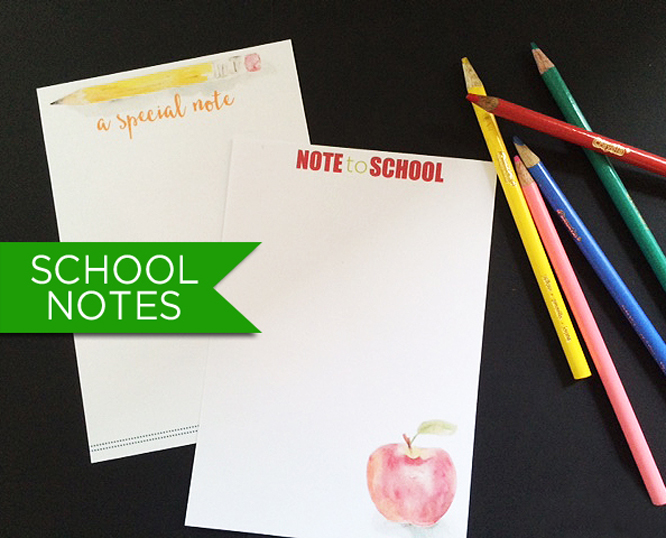 Free lunch box and school note cards