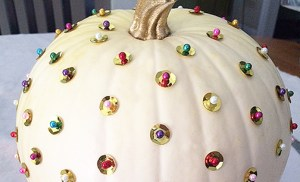 DIY pumpkin with some bling