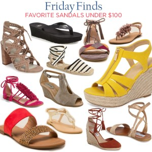 Friday Finds | favorite sandals under $100