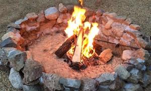 DIY rustic firepit