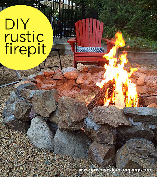 fall favorite - DIY rustic fire pit