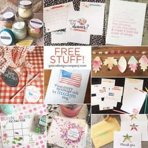 Free printables from greco design company