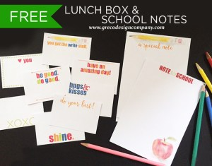 FREE Lunch Box & School Notes