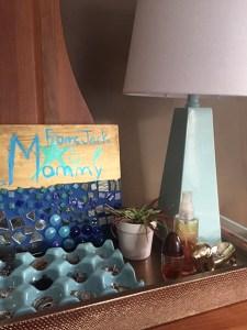 One Room Challenge™ Week 5 – Bedroom Makeover – Lighting & Artwork & Plants. Oh my!