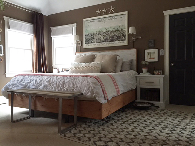 Bedroom Makeover Final Reveal - One Room Challenge with DIY bed frame
