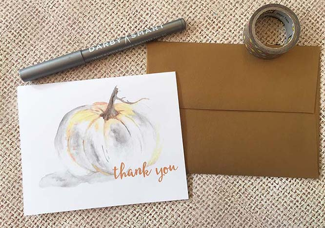 Free Watercolor Note Cards for Fall