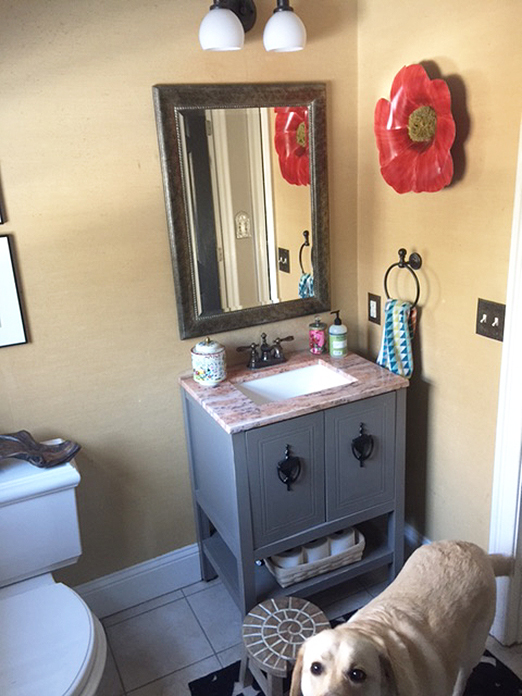 One Room Challenge small space bathroom makeover