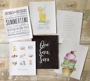 summer inspired art prints