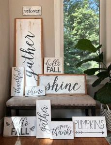 handmade wood signs – just in time for fall