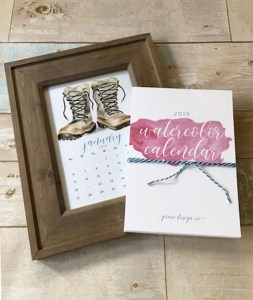 2019 watercolor calendars are here!