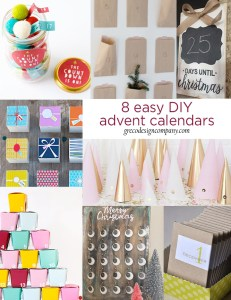 8 easy DIY advent calendars