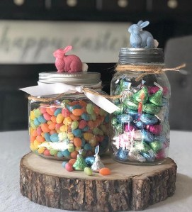 How to Make an Easy Springtime Bunny Candy Jar