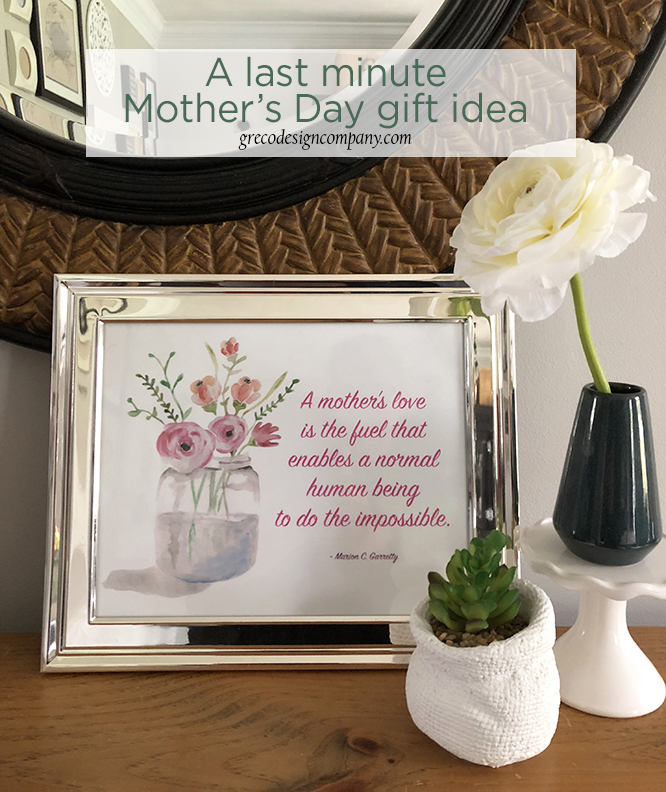 A last minute Mother's Day gift idea