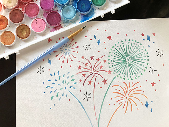 FREE digital backgrounds for July