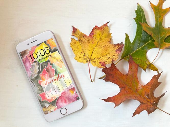 FREE digital backgrounds for November