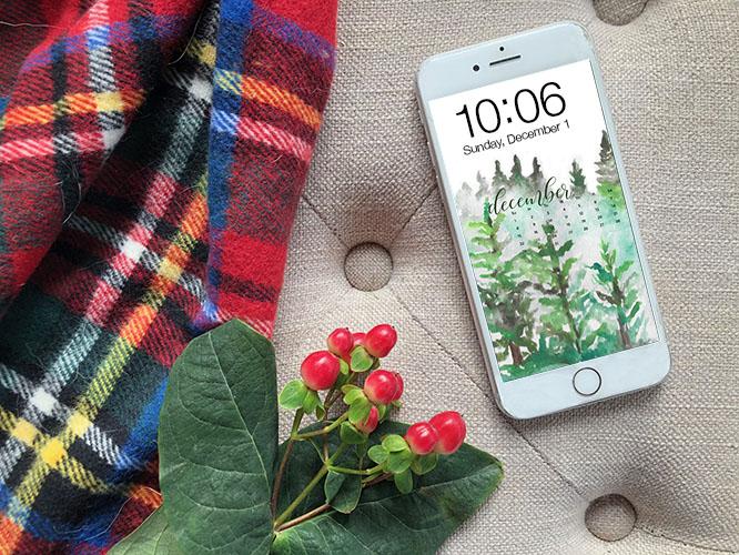 FREE digital backgrounds for December