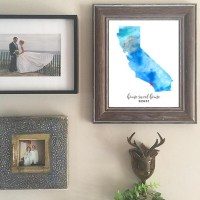 home sweet home custom watercolor prints
