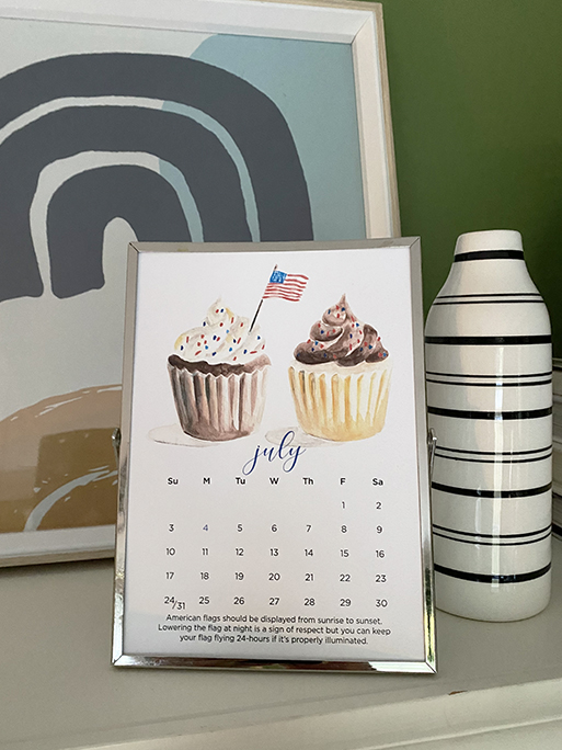 2022 watercolor calendar