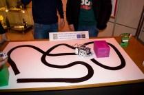 """I ragazzi del Liceo """"Moscati"""" di Grottaglie hanno realizzato un'auto intelligente che riesce a seguire un percorso prestabilito in base al colore del traccaito"""